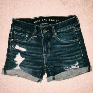 2 ripped jean shorts NWOT 00-0